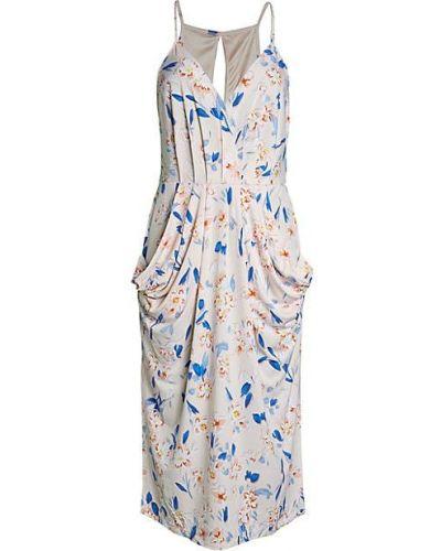 Плиссированное коктейльное платье без рукавов с драпировкой Bcbgeneration