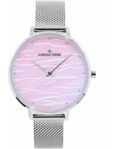 Klasyczny różowy zegarek srebrny Jordan Kerr