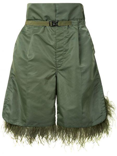 Zielony szorty z kieszeniami wysoki wzrost w połowie kolana Toga