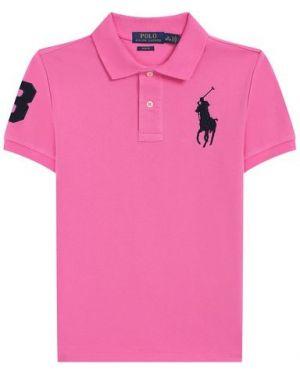Мягкое розовое хлопковое поло Polo Ralph Lauren
