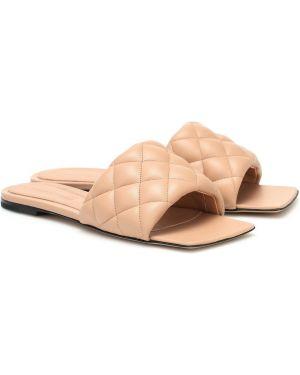 Кожаные туфли жёлтые песочный Bottega Veneta