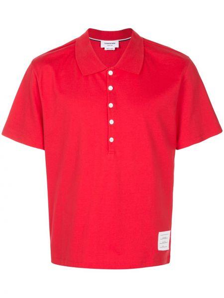 Koszula krótkie z krótkim rękawem klasyczna z logo Thom Browne