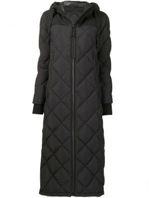 Черное пальто с перьями Moose Knuckles