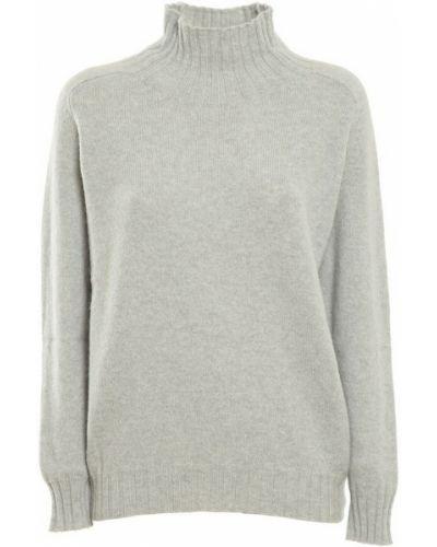 Szary sweter z angory Zanone