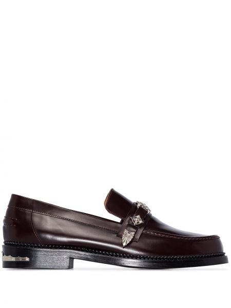 Czerwone loafers skorzane Toga Virilis