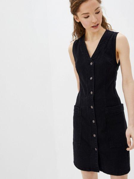 Джинсовое платье черное весеннее Befree