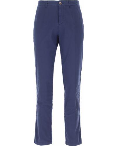 Niebieskie spodnie bawełniane Brooksfield