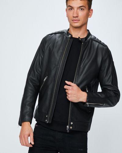 Кожаная куртка легкая черная Diesel