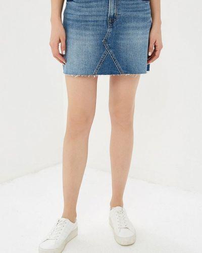 Джинсовая юбка синяя Gap