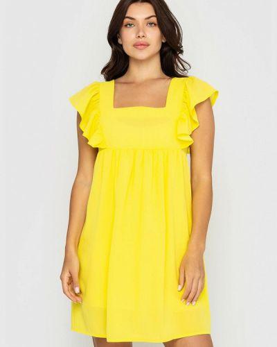 Прямое платье - желтое Sfn