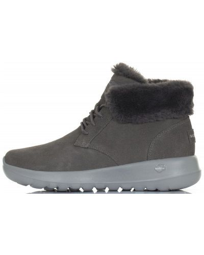 Кожаные сапоги на шнуровке Skechers