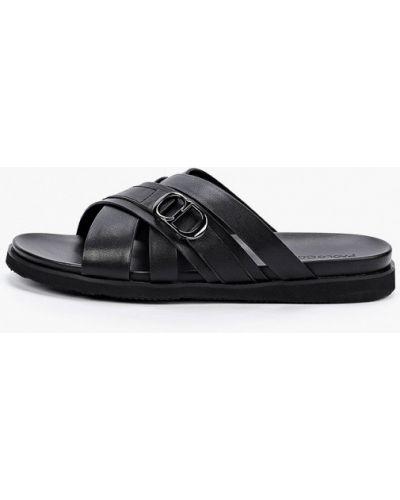 Черные кожаные сандалии Paolo Conte