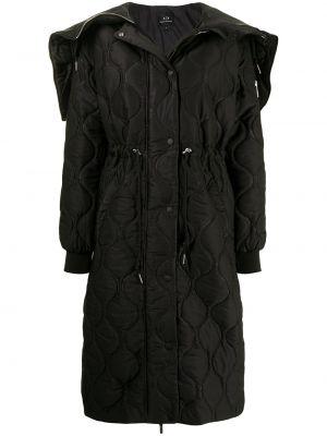 Стеганое пальто - черное Armani Exchange