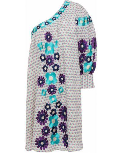 Liliowa sukienka bawełniana Antik Batik