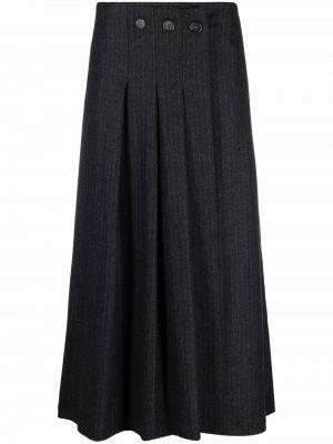 Шерстяная юбка миди - серая Stefano Mortari