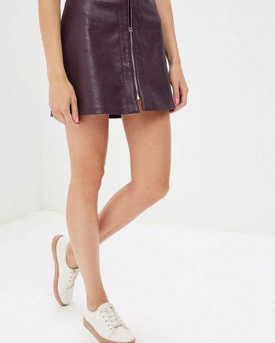 Фиолетовая кожаная юбка Befree