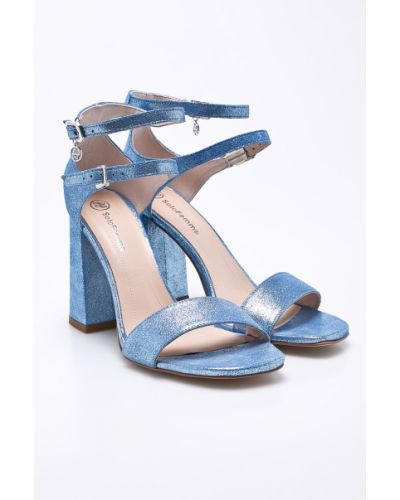 Синие сандалии Solo Femme