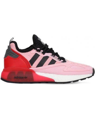 Różowy ażurowy sneakersy zasznurować Adidas Originals