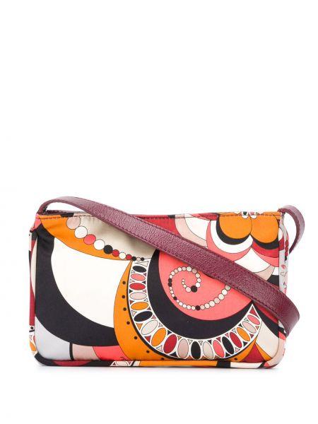 Красная шелковая маленькая сумка на молнии Emilio Pucci Pre-owned