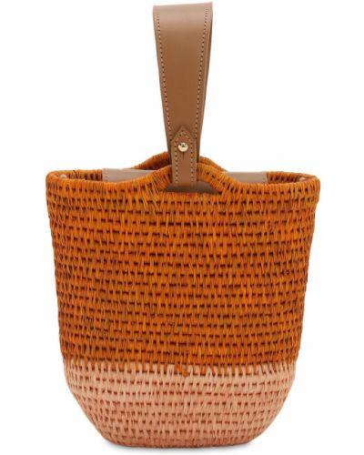 Pomarańczowa torebka skórzana Khokho
