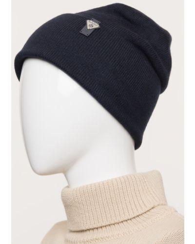 Шерстяная синяя вязаная шапка Ferz