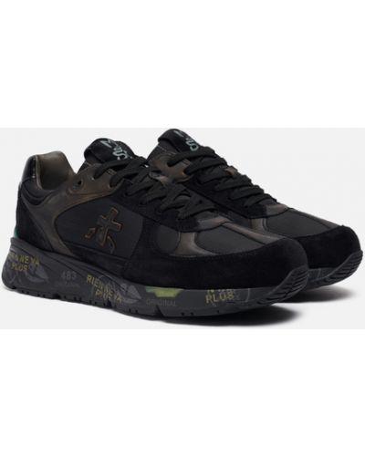 Черные текстильные кроссовки Premiata