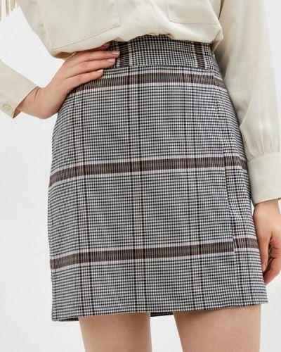 Серая прямая юбка карандаш Ichi