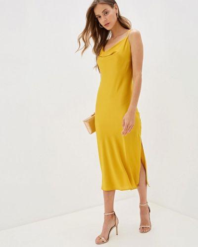 Платье осеннее золотой Imocean