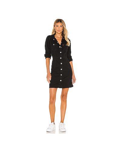 Черное хлопковое платье на пуговицах с карманами Levi's®