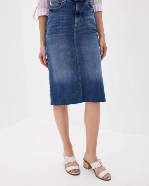 Синяя джинсовая юбка Marks & Spencer