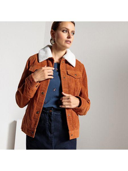 Зимняя куртка на пуговицах велюровая Anne Weyburn
