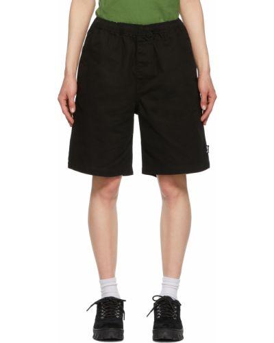 Пляжные шорты - черные Stussy