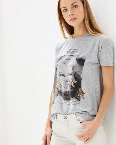Серая футболка Brigitte Bardot