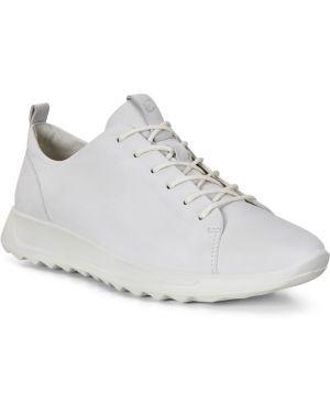 Белые текстильные кроссовки на шнурках с подкладкой Ecco