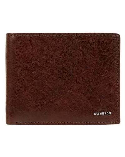 Brązowy portfel na monety skórzany Strellson