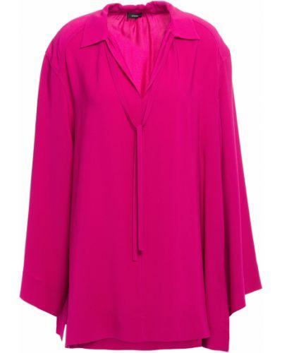 Облегченная розовая шелковая блузка Joseph