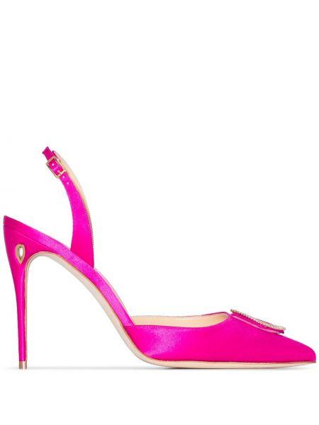 Кожаные с ремешком розовые кожаные туфли Jennifer Chamandi