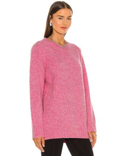 Różowy sweter z alpaki Helmut Lang