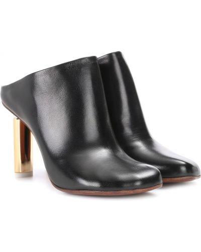 Мюли кожаные черный Vetements