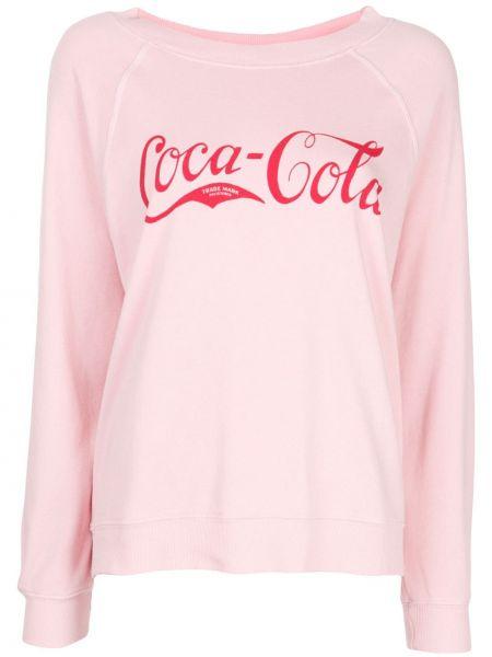 Prążkowany różowy sweter bawełniany Wildfox