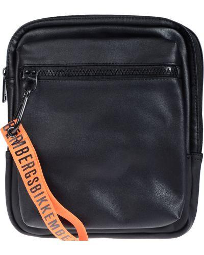 Кожаная сумка на молнии текстильная Bikkembergs