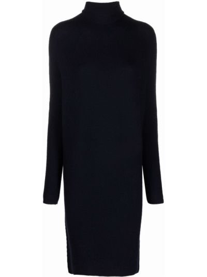 Платье миди в рубчик - синее Christian Wijnants