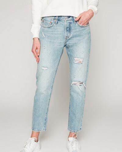Прямые джинсы с эффектом потертости с нашивками Levi's®