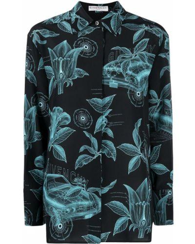 Z rękawami czarny klasyczna koszula z mankietami Givenchy
