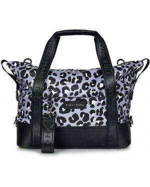 Czarna torebka z nylonu z printem Tiba + Marl