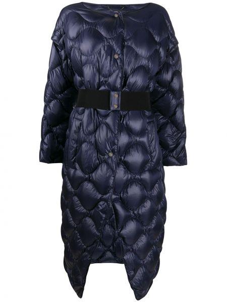 Puchaty pikowana płaszcz z kieszeniami z długimi rękawami okrągły Dorothee Schumacher
