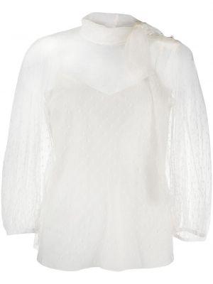Bluzka z siateczką - biała Redvalentino