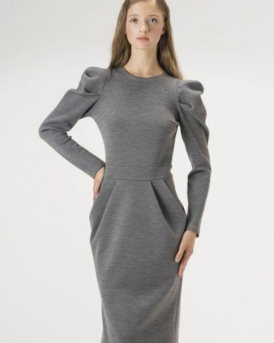 Платье серое осеннее Белка