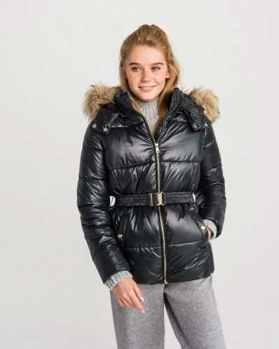 Утепленная куртка демисезонная черная Befree
