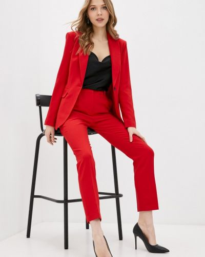 Костюмный красный брючный костюм Villagi